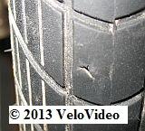 Loch im linken Reifen